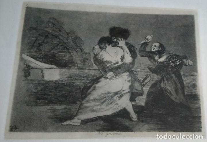 Arte: GRABADO / * DESASTRES DE LA GUERRA-9 (NO QUIEREN) *. F. DE GOYA. MUSEO DEL GRABADO DE FUENDETODOS. - Foto 2 - 250210135