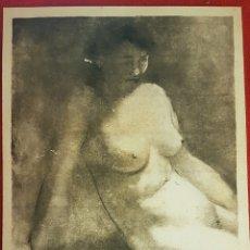 """Arte: JUAN DANIEL DOMÍNGUEZ """"PROGRESO"""" (SAGUNTO,1932-VALENCIA 2019)""""TORSO"""" MONOTIPO (51X 39) 1972. Lote 251403295"""