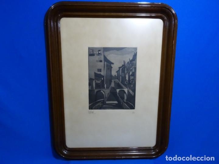 Arte: GRABADO - AGUAFUERTE ILEGIBLE. P/A. BIEN ENMARCADO. - Foto 2 - 251419740