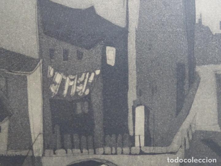Arte: GRABADO - AGUAFUERTE ILEGIBLE. P/A. BIEN ENMARCADO. - Foto 5 - 251419740