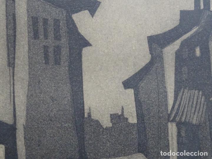 Arte: GRABADO - AGUAFUERTE ILEGIBLE. P/A. BIEN ENMARCADO. - Foto 7 - 251419740