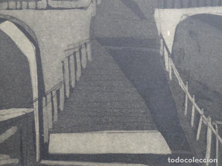 Arte: GRABADO - AGUAFUERTE ILEGIBLE. P/A. BIEN ENMARCADO. - Foto 10 - 251419740