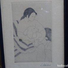 Arte: GRABADO - AGUAFUERTE A LA PUNTA SECA DE TERESA LLACER.. Lote 251424425