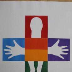 Arte: RAINBOW ME - GRABADO EN RELIEVE DE GAP (GUILLERMO ANTÓN PARDO) - 50X70CM. Lote 251735060