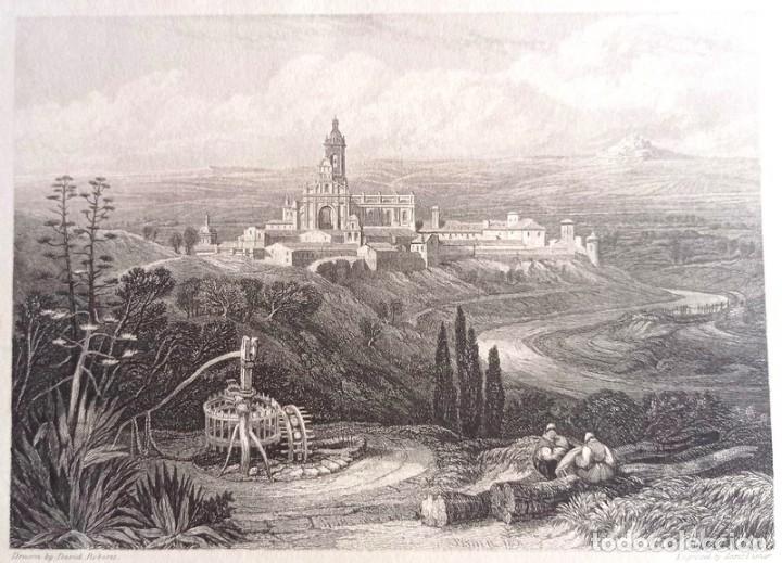 Arte: Grabado antiguo Jerez Cádiz año 1838 con certificado de autenticidad. Grabados antiguos Cádiz - Foto 2 - 119597151