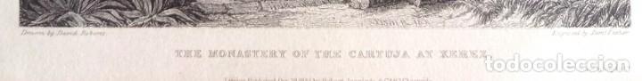 Arte: Grabado antiguo Jerez Cádiz año 1838 con certificado de autenticidad. Grabados antiguos Cádiz - Foto 3 - 119597151