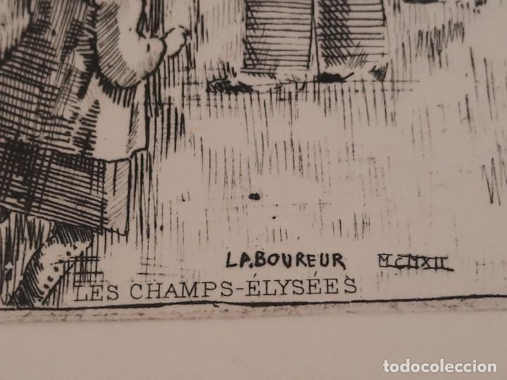 Arte: Grabado Calcografía Jean Emile Laboureur Edición Louvre Les Champs-Elysées, C 1932 - Foto 3 - 251825230