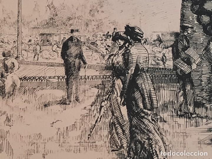 Arte: Grabado Calcografía Jean Emile Laboureur Edición Louvre Les Champs-Elysées, C 1932 - Foto 4 - 251825230