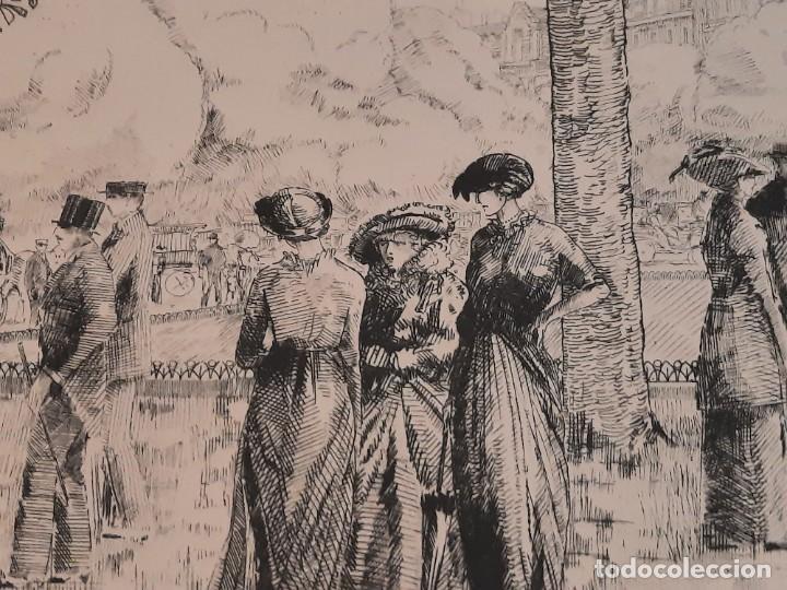Arte: Grabado Calcografía Jean Emile Laboureur Edición Louvre Les Champs-Elysées, C 1932 - Foto 5 - 251825230