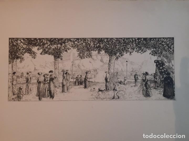Arte: Grabado Calcografía Jean Emile Laboureur Edición Louvre Les Champs-Elysées, C 1932 - Foto 6 - 251825230