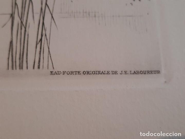 Arte: Grabado Calcografía Jean Emile Laboureur Edición Louvre C 1932 Un Dimanche de printemps a longchamp - Foto 4 - 251838080