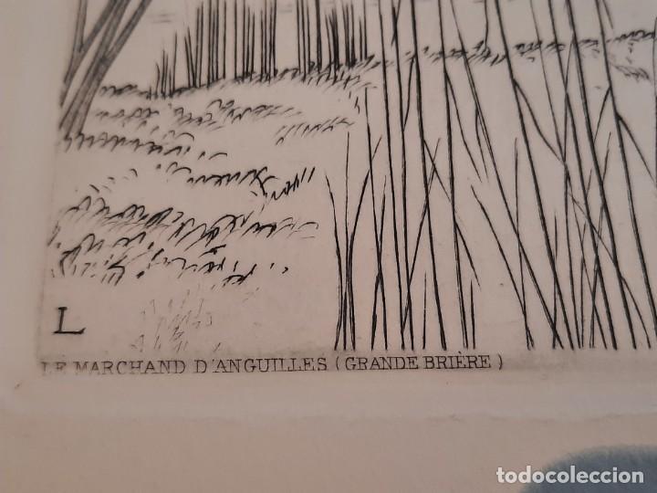 Arte: Grabado Calcografía Jean Emile Laboureur Edición Louvre C 1932 Un Dimanche de printemps a longchamp - Foto 6 - 251838080