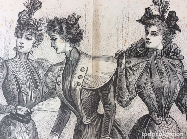 Arte: Grabados moda s. XIX - Foto 3 - 252159435