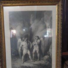 Arte: GRABADO DE SATAN Y BELZABUTH. Lote 252182615
