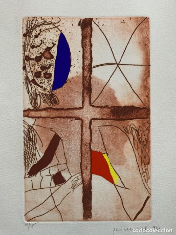 GRABADO AGUAFUERTE JOSEP GUINOVART 1994, 56,5X38 CM (Arte - Grabados - Contemporáneos siglo XX)