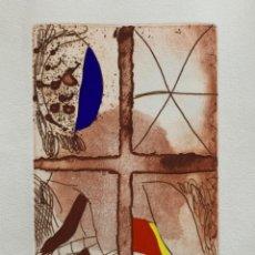 Arte: GRABADO AGUAFUERTE JOSEP GUINOVART 1994, 56,5X38 CM. Lote 252192700