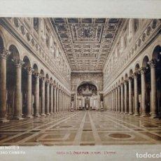 Arte: 24 GRABADOS ANTIGUOS DE ROMA, DE 22,5 X 30 CMS. SOUVENIR DE ROMA. VER FOTOS. Lote 252235335