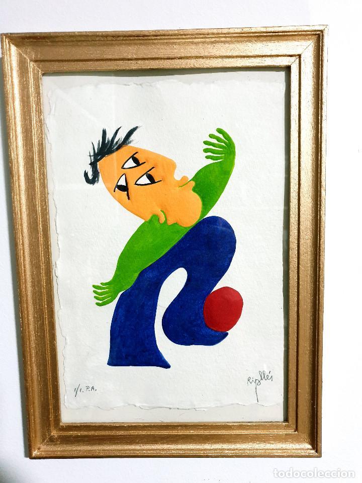 Arte: Juan García Ripollés enmarcado PRUEBA AUTOR - Foto 2 - 252396035