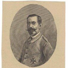 Arte: ANTONIO LÓPEZ DE HARO. GRABADO. JUEZ MILITAR DE LA CAPITANÍA DE LA HABANA. 1896. Lote 252542110