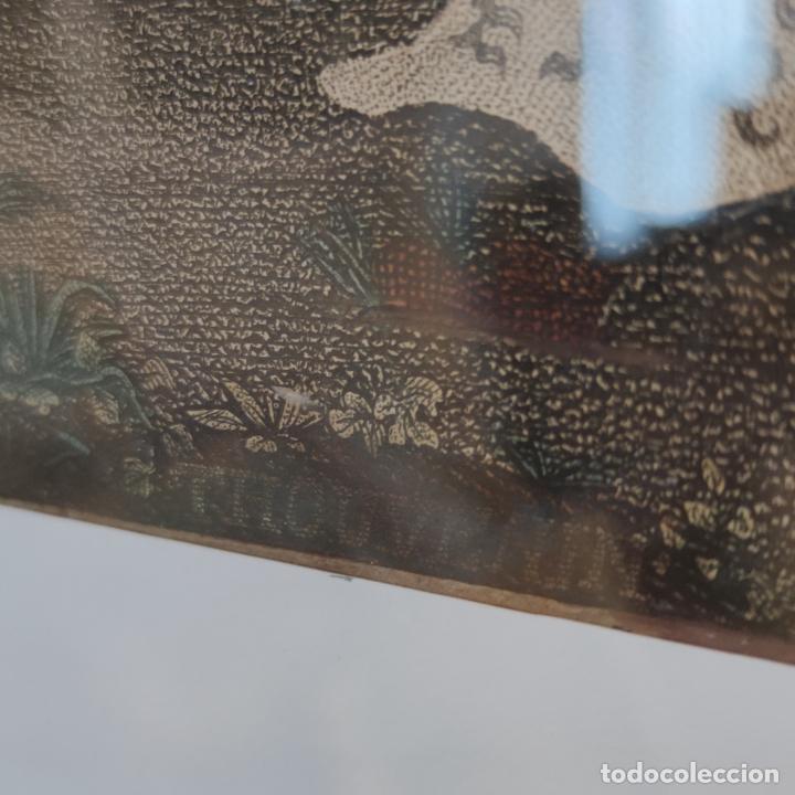 Arte: Tremendo grabado a color. Descenso de la cruz. Jean Pierre Thouvenin. 1818. Firmado en plancha. - Foto 7 - 252678510