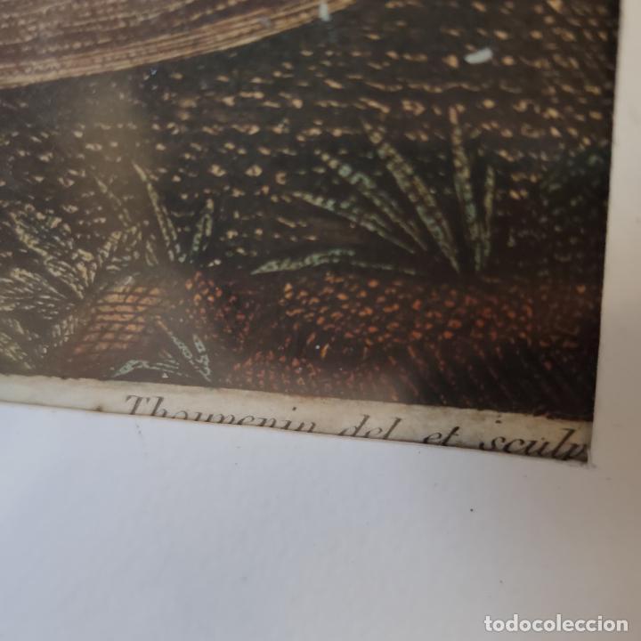 Arte: Tremendo grabado a color. Descenso de la cruz. Jean Pierre Thouvenin. 1818. Firmado en plancha. - Foto 10 - 252678510
