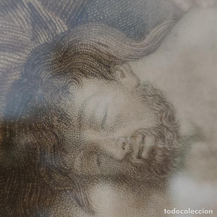Arte: Tremendo grabado a color. Descenso de la cruz. Jean Pierre Thouvenin. 1818. Firmado en plancha. - Foto 11 - 252678510