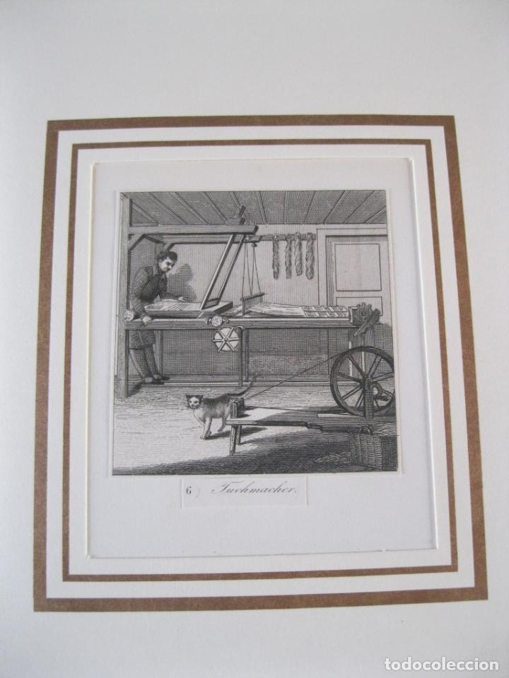 EL TRABAJADOR ARTESANO CON LANA, 1880. ANÓNIMO (Arte - Grabados - Modernos siglo XIX)