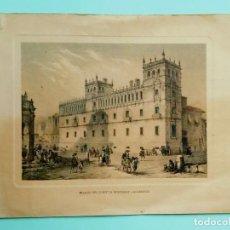 Arte: TARJETA NAVIDEÑA DEL BANCO BILBAO GRABADA AÑO 1857. Lote 252930295