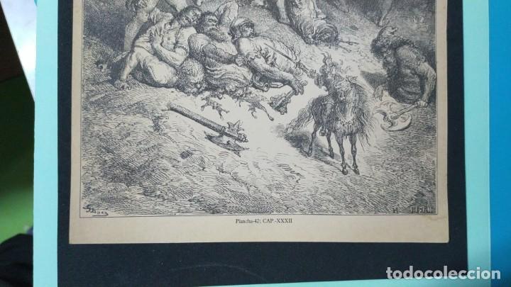 Arte: LITOGRAFIA DE DON QUIJOTE DE LA MANCHA PLANCHA 42 CAP XXXII DIBUJOS Gustave Doré GRABADOS H. Pisan - Foto 2 - 253192590