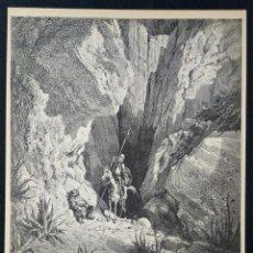 Arte: LITOGRAFIA DE DON QUIJOTE DE LA MANCHA PLANCHA 28 CAP XXIII DIBUJOS GUSTAVE DORÉ GRABADOS H. PISAN. Lote 253192830