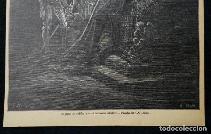 Arte: LITOGRAFIA DE DON QUIJOTE DE LA MANCHA PLANCHA 80 CAP XXIII DIBUJOS Gustave Doré GRABADOS H. Pisan - Foto 2 - 253193365