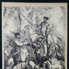 Arte: LITOGRAFIA DE DON QUIJOTE DE LA MANCHA PLANCHA 73 CAP XX DIBUJOS GUSTAVE DORÉ GRABADOS H. PISAN. Lote 253193415