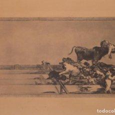 Arte: LITOGRAFÍA SUELTA DE LA TAUROMAQUIA DE GOYA DE UNA REEDIÓN DE LOS AÑOS SESENTA. Lote 253290670