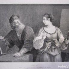 Arte: JOSÉ JORRO. TIZIANO Y LA PINTURA O EL DIBUJO Y LA PINTURA. 1826 - 1837. AGUATINTA.. Lote 253305310