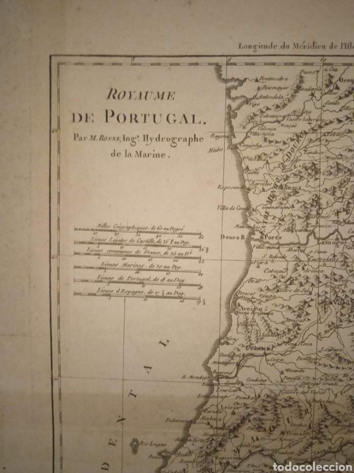 Arte: Mapa reino de Portugal siglo XVII/XVIII - Foto 2 - 253573665