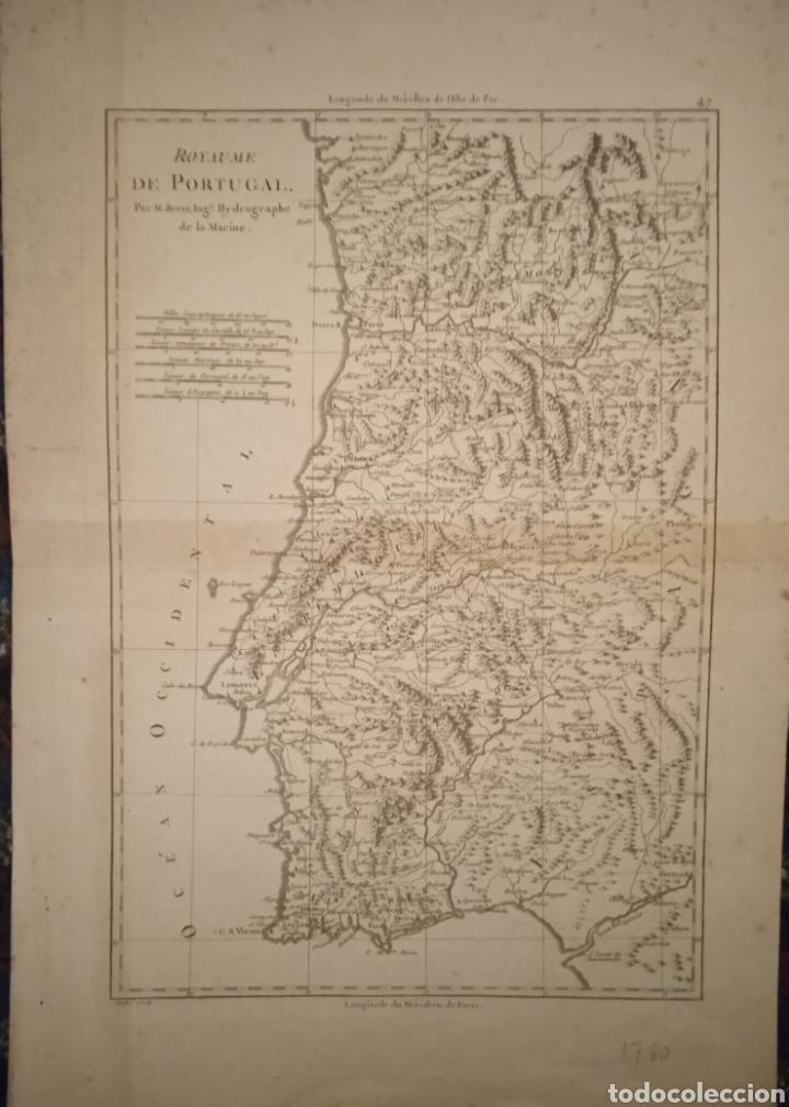 MAPA REINO DE PORTUGAL SIGLO XVII/XVIII (Arte - Grabados - Antiguos hasta el siglo XVIII)