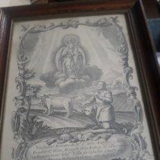 Art: ANTIGUO GRABADO, NUESTRA SEÑORA DE LA ANTIGUA Y SAN ILLAN. Lote 253625985