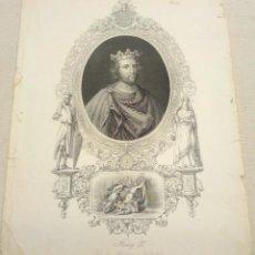 Arte: RARO - GRABADO PP S.XIX - ENRIQUE III. DESDE EL MONUMENTO DE WESTMINSTER. Lote 253922930