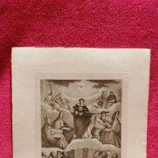 Art: GRABADO DE JOSÉ MARÍA MARTÍN. SEVILLA 1831. SANTO TOMÁS DE AQUINO DOCTOR DE LA IGLESIA. Lote 254280080