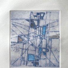 Arte: CLARET, JOAN. GRABADO COLOREADO A MANO. 46 X 35,5 CM. 1961. Lote 254399405