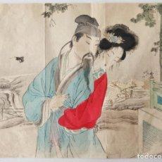 Arte: EXCELENTE GRABADO JAPONÉS DEL SIGLO XIX CIRCA 1870, UKIYO-E, XILOGRAFIA, KUCHI-E. Lote 254421295
