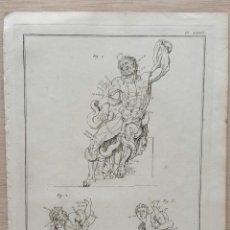 Arte: ANTIGUO GRAN GRABADO S. XVIII DISEÑO: LAS PROPORCIONES LAOCOONTE Y SUS HIJOS . FRANCIA GAY INT.. Lote 254444455