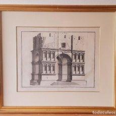 Arte: GRABADO ITALIANO SIGLO XVIII. TEMPLO DE JANO. ENMARCADO. Lote 254511840