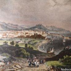 Arte: GRABADO ORIGINAL- BARCELONA -VISTAS DE LA CUIDAD - ILUMINADO - AÑO 1835 - C. REISS - 26 X 18.50 CM. Lote 254514955