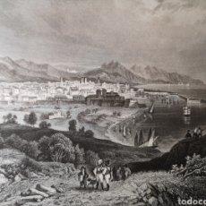 Arte: GRABADO ORIGINAL - BARCELONA - VISTA PANORÁMICA DE LA CIUDAD - AÑO 1835 - C. REISS - 23 X 15.50 CM. Lote 254522610
