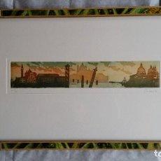 Arte: CADORE, VENECIA, AGUAFUERTE Y AGUATINTA FIRMADA Y NUMERADA, CERTIFICADA, 1994. Lote 254533175