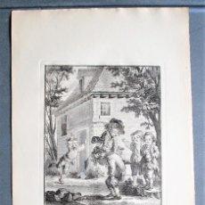 Arte: LE COUPE-TÊTE. NIÑOS JUGANDO. GRABADO DE AUG. DE ST. AUBIN.. Lote 49955140
