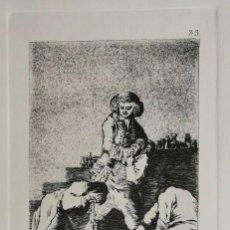 Arte: GOYA,LOS CAPRICHOS N.33 AL CONDE PALATINO,AGUAFUERTE ORIGINAL DIRECTO DE PLANCHA CON CERTIFICADO. Lote 254750780