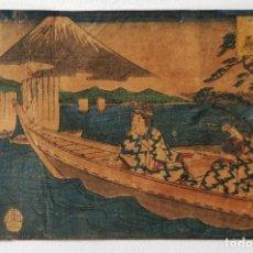 Arte: MAGISTRAL GRABADO JAPONÉS ORIGINAL DE UTAGAWA HIROSHIGE, CIRCA 1830, OPORTUNIDAD, RARO, MONTE FUJI. Lote 254778295