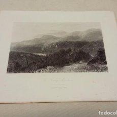 Arte: BELLO GRABADO AL ACERO S.XIX - H.MARTEN - MONTAÑAS HUMEANTES, CAROLINA DEL NORTE. Lote 254818835